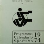 Perugia, 1974 – Programma del calendario sportivo per l'anno 1974