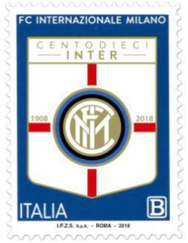 Francobollo Internazionale Football Club 1908 - Milano