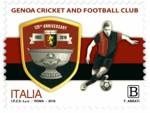Francobollo Genoa Cricket and Foot Ball Club 1893 - Genova